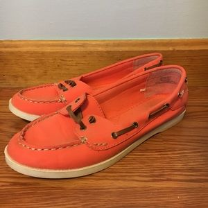 Old Navy Coral Boat Shoes